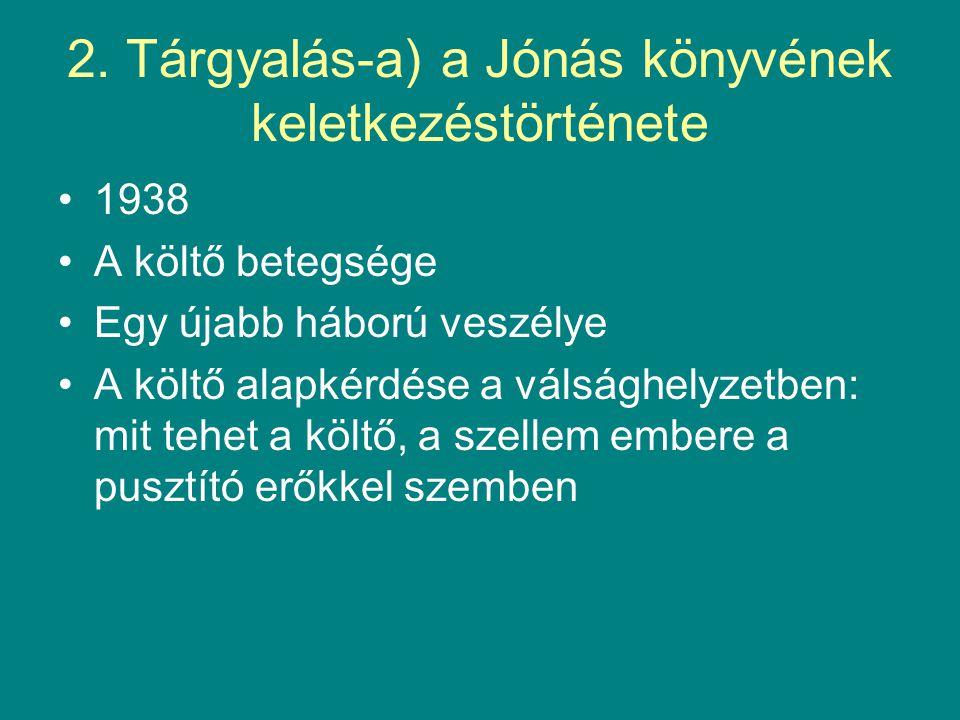 2. Tárgyalás-a) a Jónás könyvének keletkezéstörténete