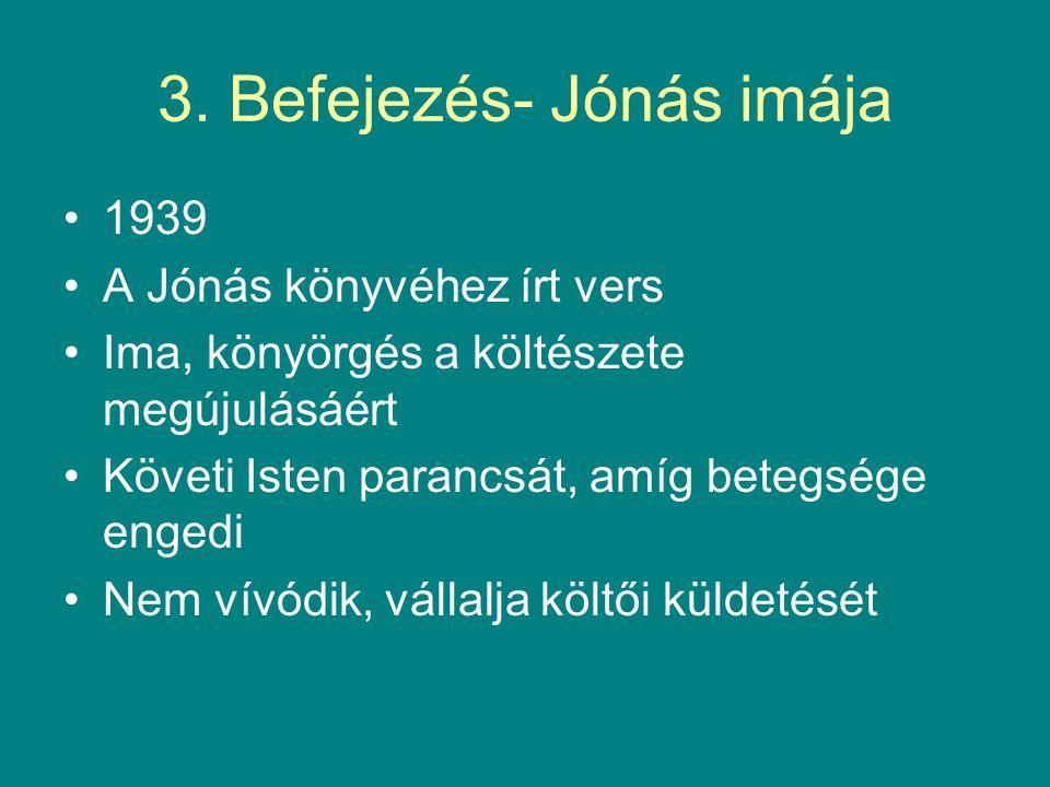 3. Befejezés- Jónás imája