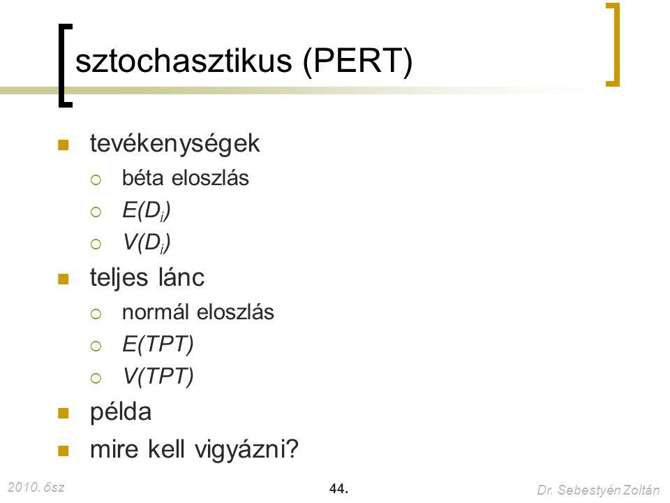 sztochasztikus (PERT)