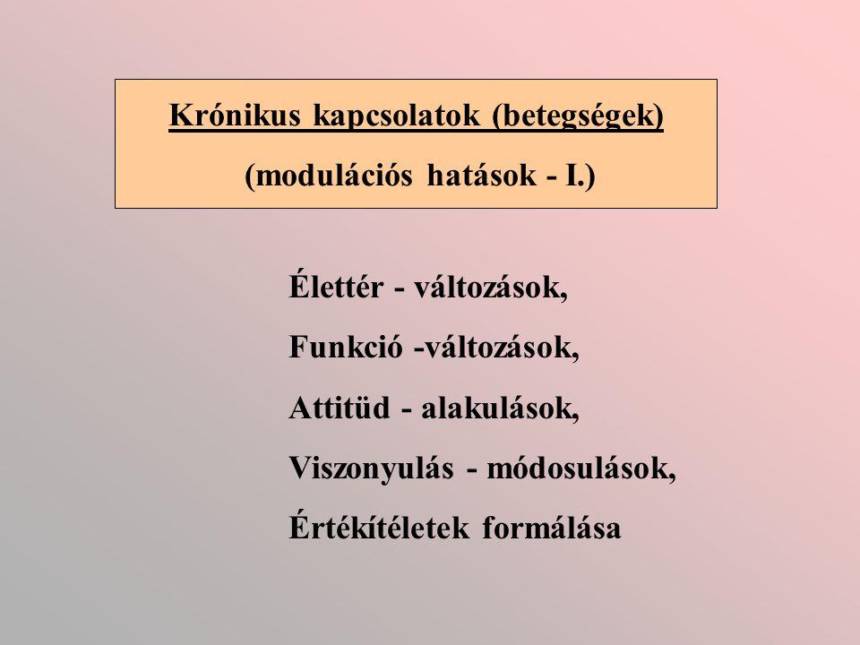 Krónikus kapcsolatok (betegségek) (modulációs hatások - I.)