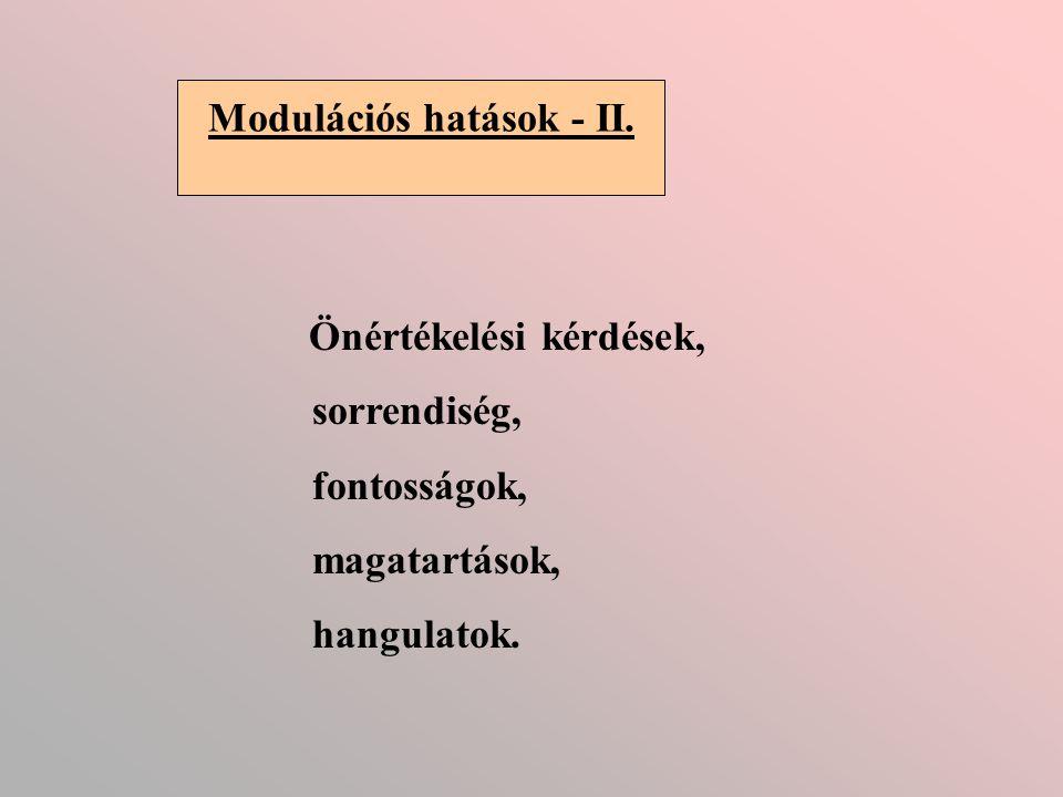 Modulációs hatások - II.