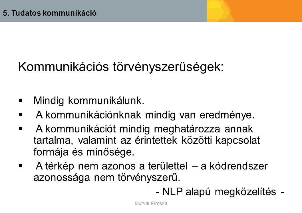 Kommunikációs törvényszerűségek: