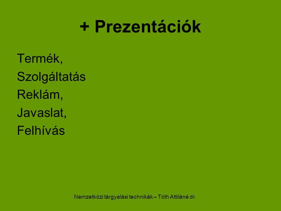 Nemzetközi tárgyalási technikák – Tóth Attiláné dr.