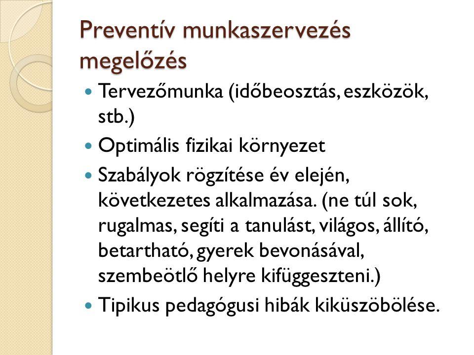 Preventív munkaszervezés megelőzés