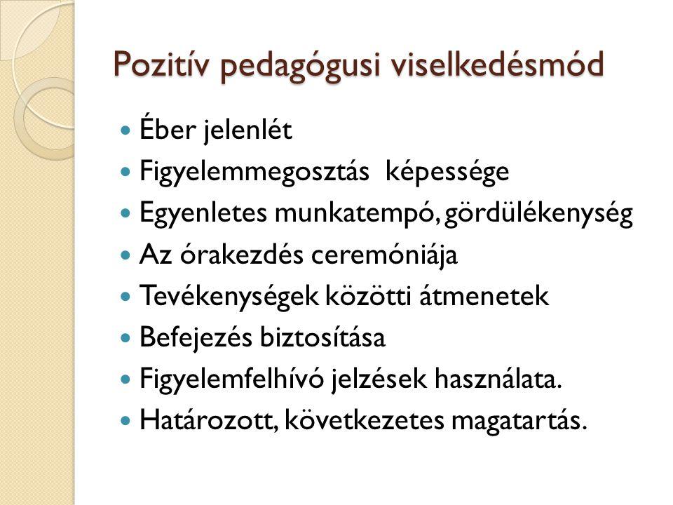 Pozitív pedagógusi viselkedésmód