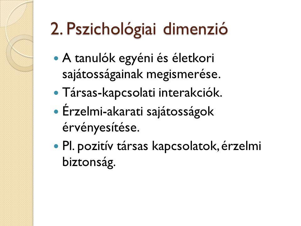 2. Pszichológiai dimenzió