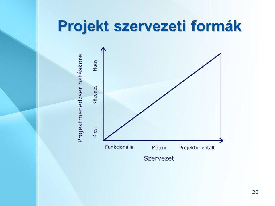 Projekt szervezeti formák