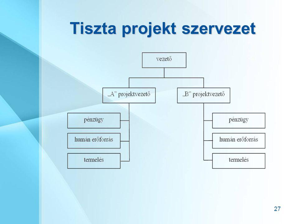 Tiszta projekt szervezet