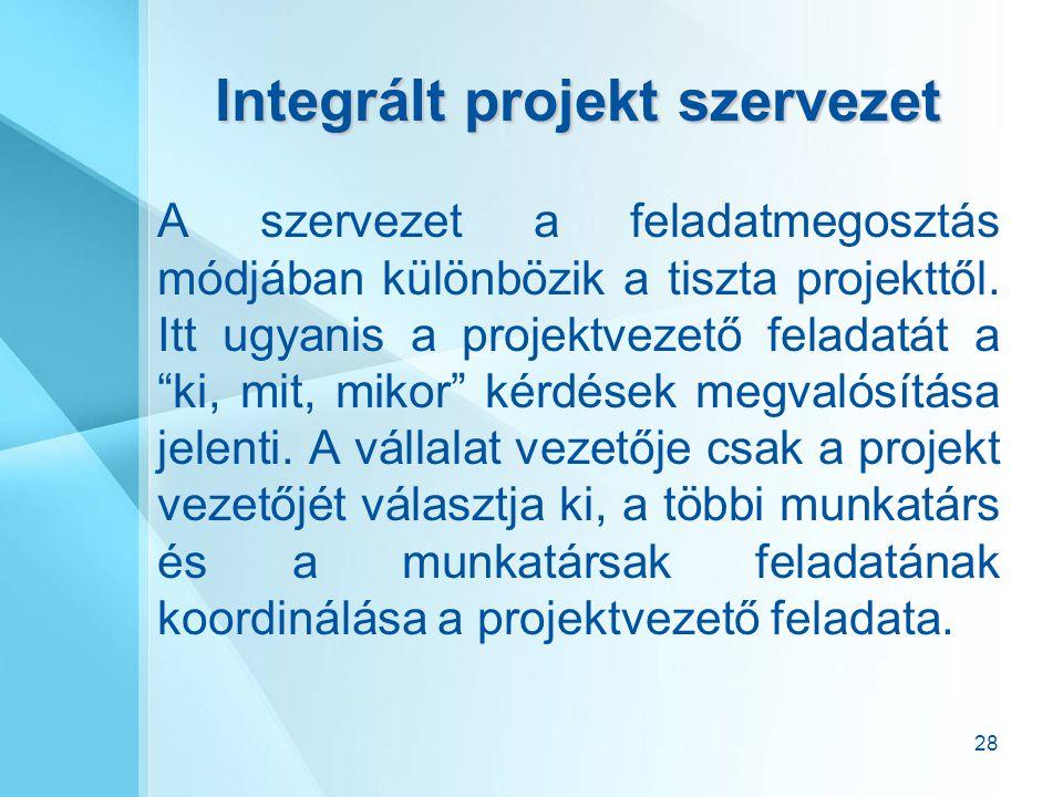 Integrált projekt szervezet