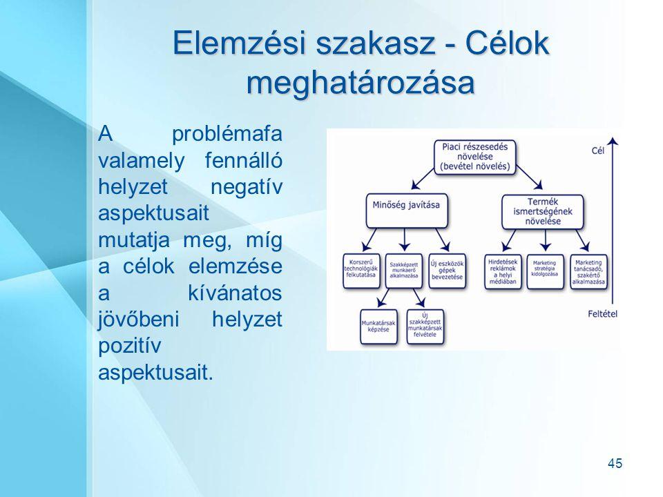 Elemzési szakasz - Célok meghatározása