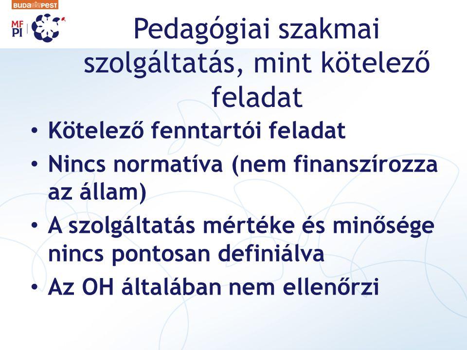 Pedagógiai szakmai szolgáltatás, mint kötelező feladat