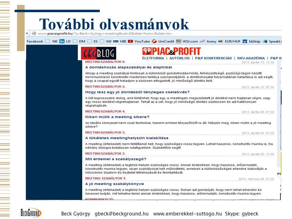 További olvasmányok http://www.piacesprofit.hu/
