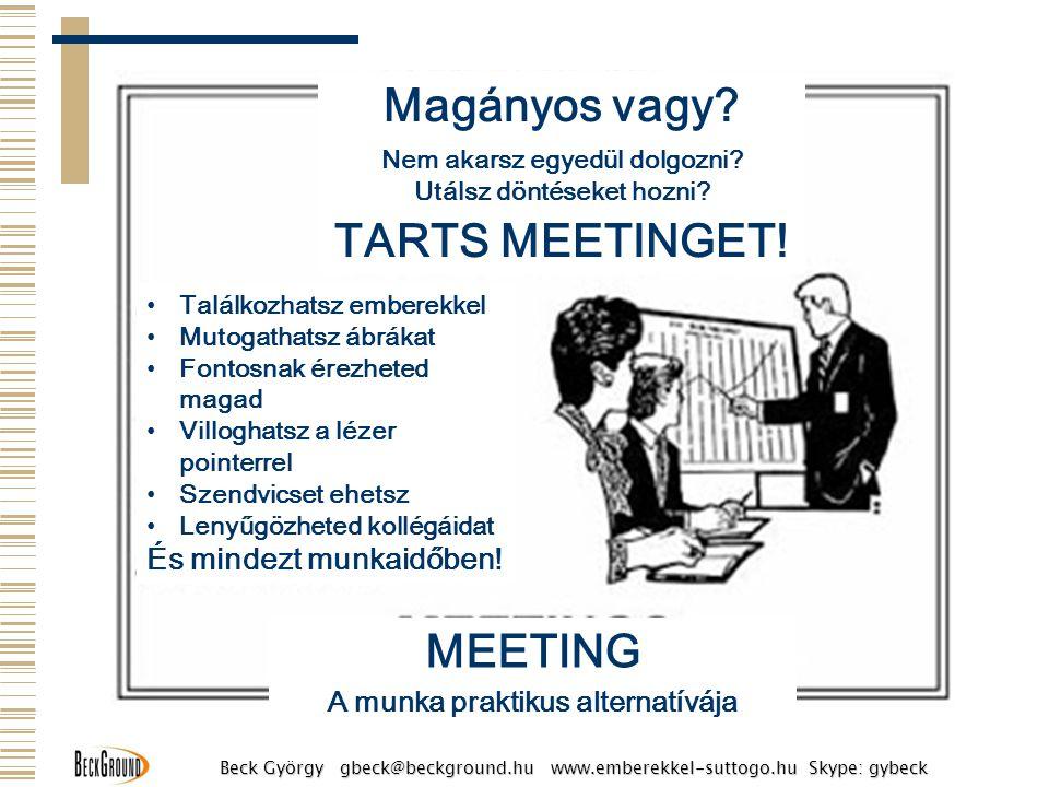 Magányos vagy MEETING TARTS MEETINGET!