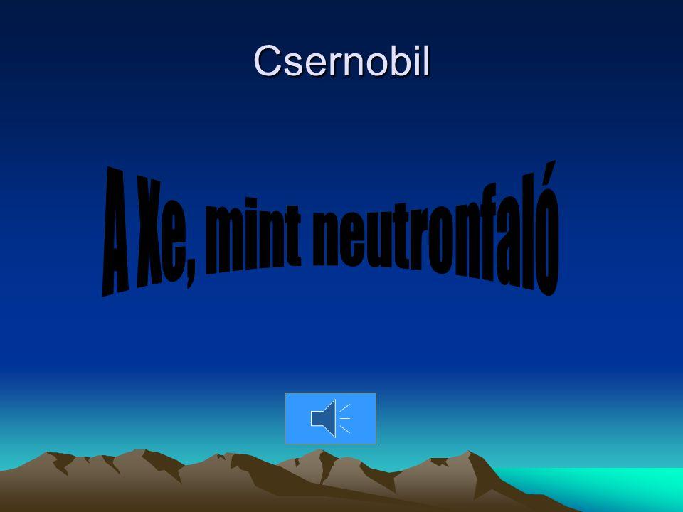 Csernobil A Xe, mint neutronfaló