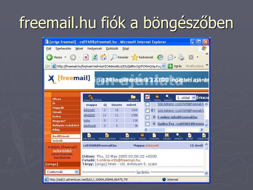 freemail.hu fiók a böngészőben