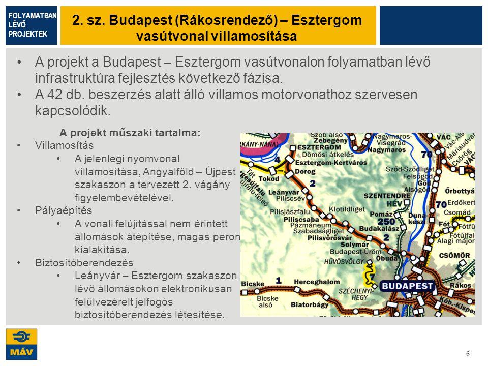 2. sz. Budapest (Rákosrendező) – Esztergom vasútvonal villamosítása