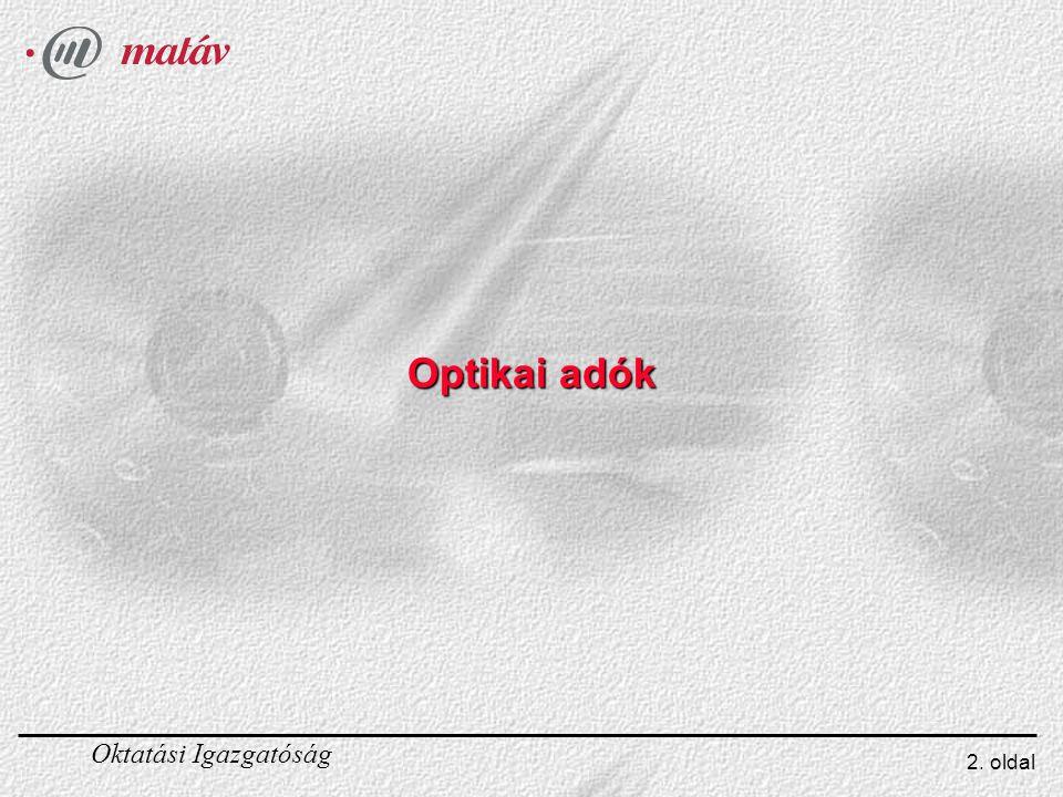 Optikai adók