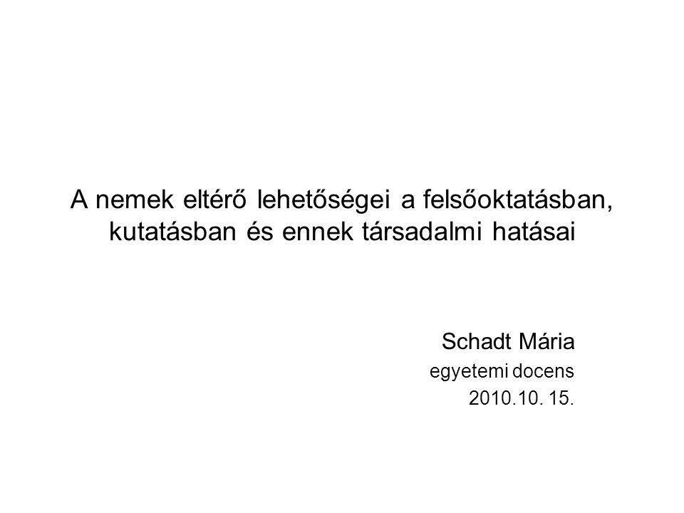 Schadt Mária egyetemi docens 2010.10. 15.