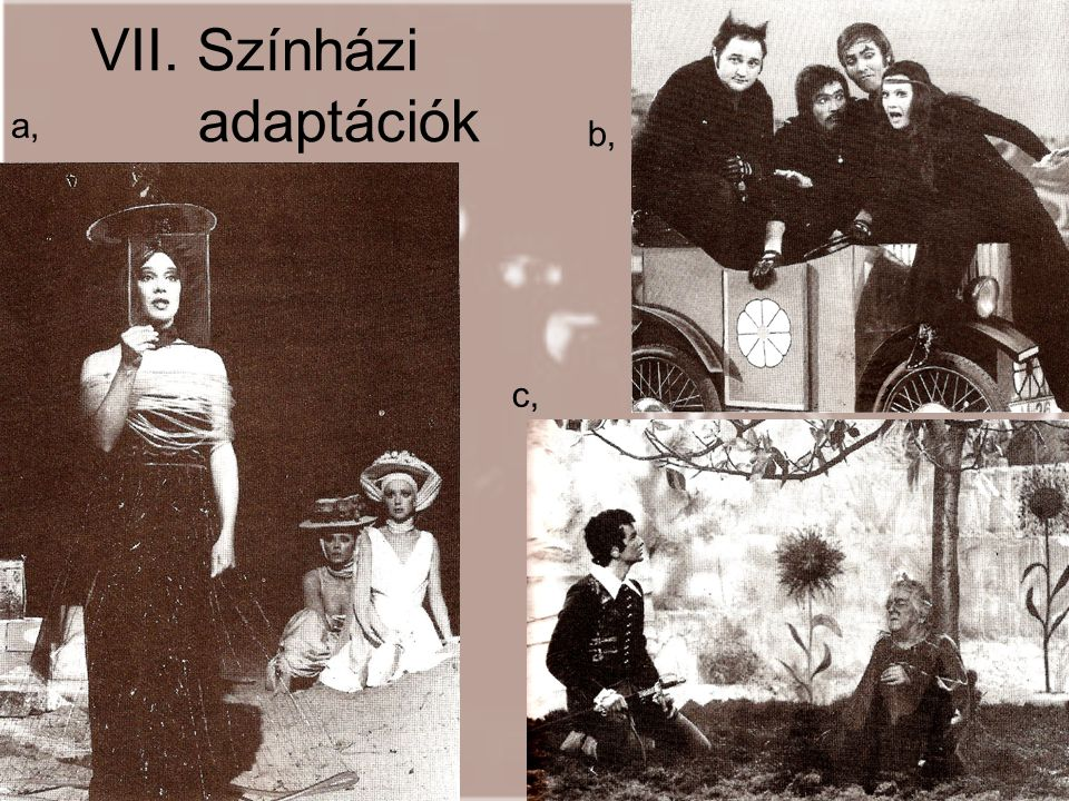 VII. Színházi adaptációk
