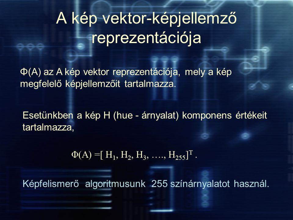A kép vektor-képjellemző reprezentációja