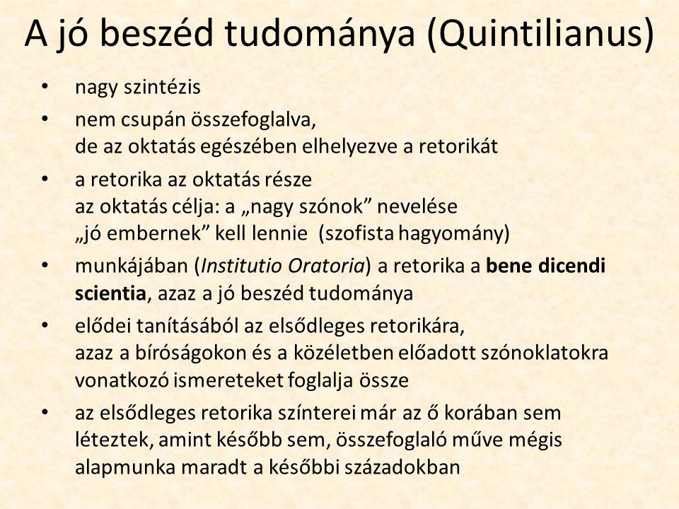 A jó beszéd tudománya (Quintilianus)