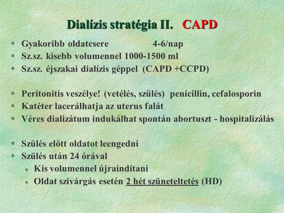 Dialízis stratégia II. CAPD