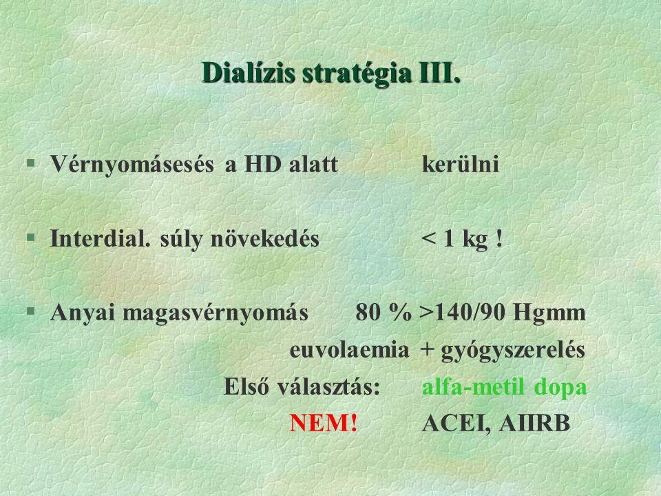 Dialízis stratégia III.