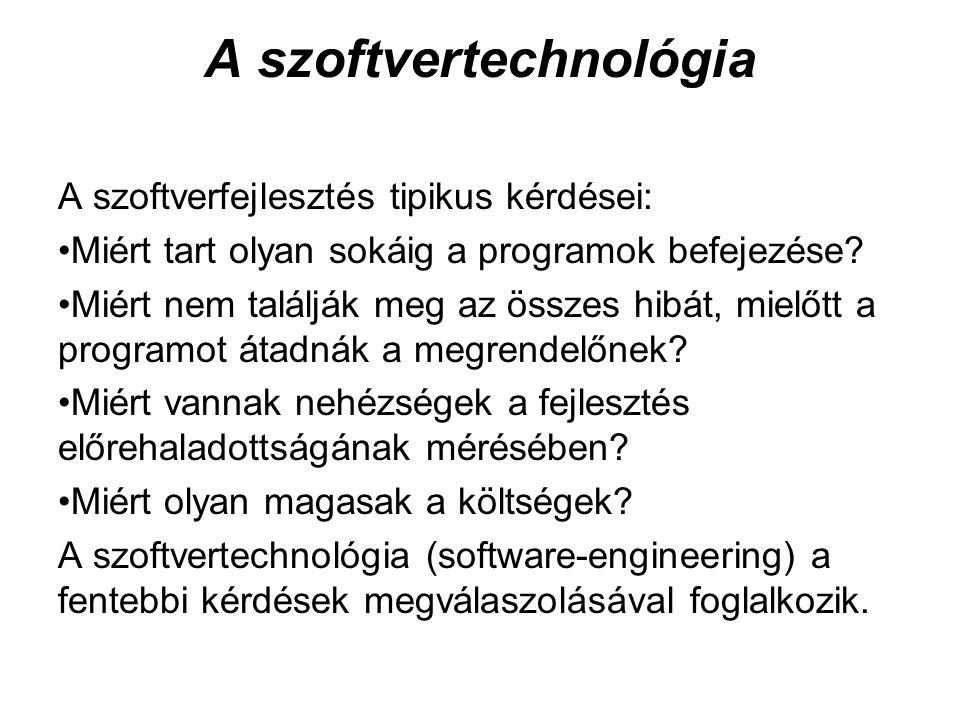 A szoftvertechnológia