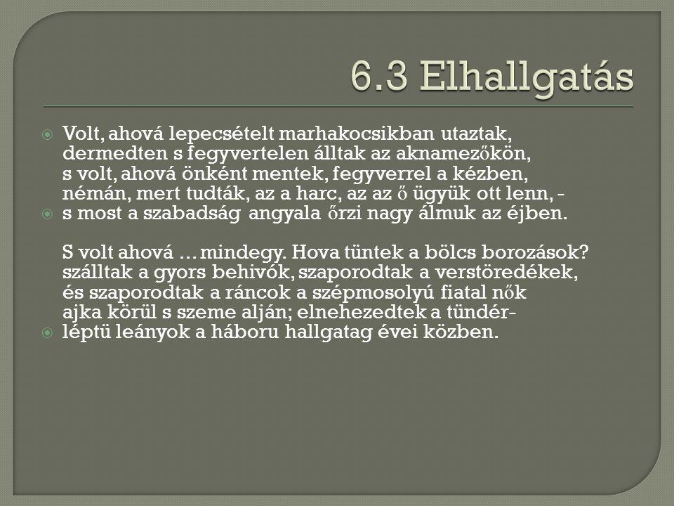 6.3 Elhallgatás