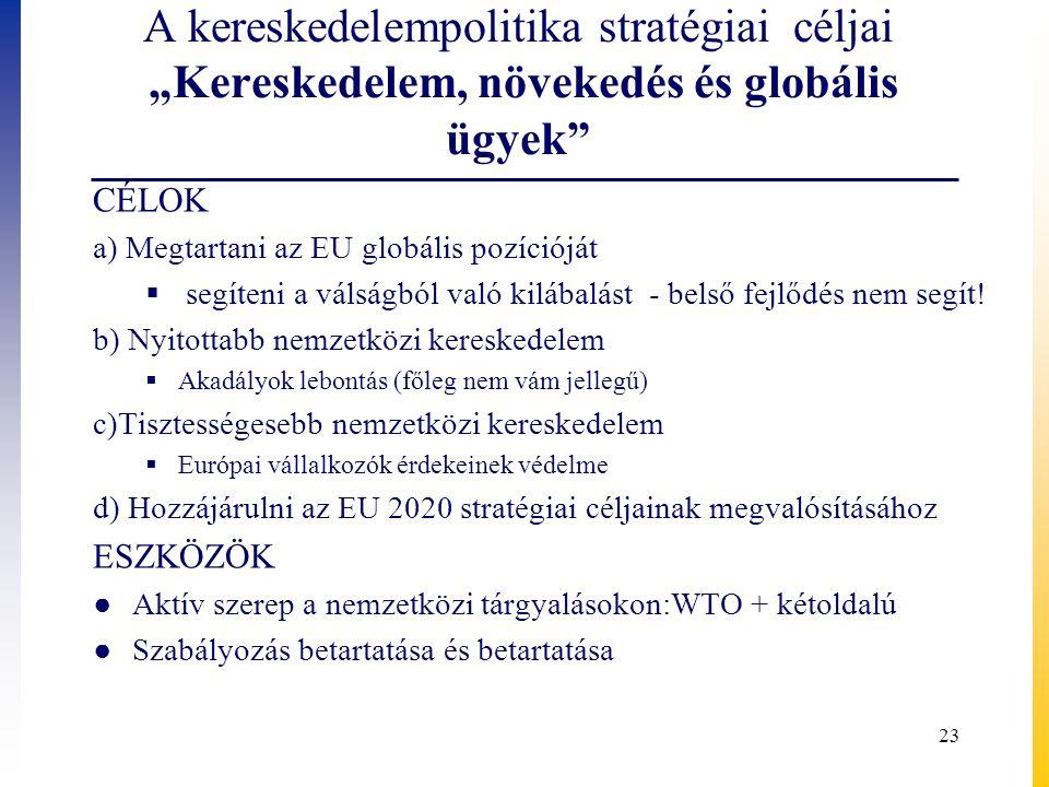 """A kereskedelempolitika stratégiai céljai """"Kereskedelem, növekedés és globális ügyek"""