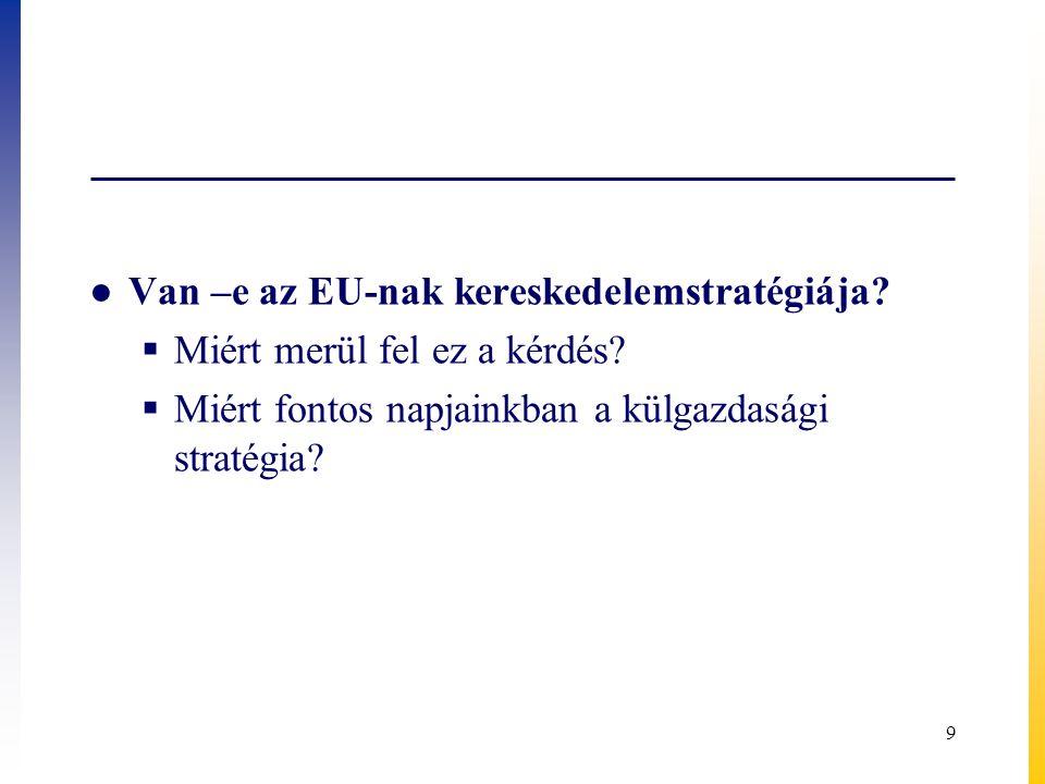 Van –e az EU-nak kereskedelemstratégiája