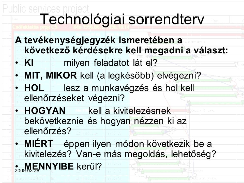 Technológiai sorrendterv