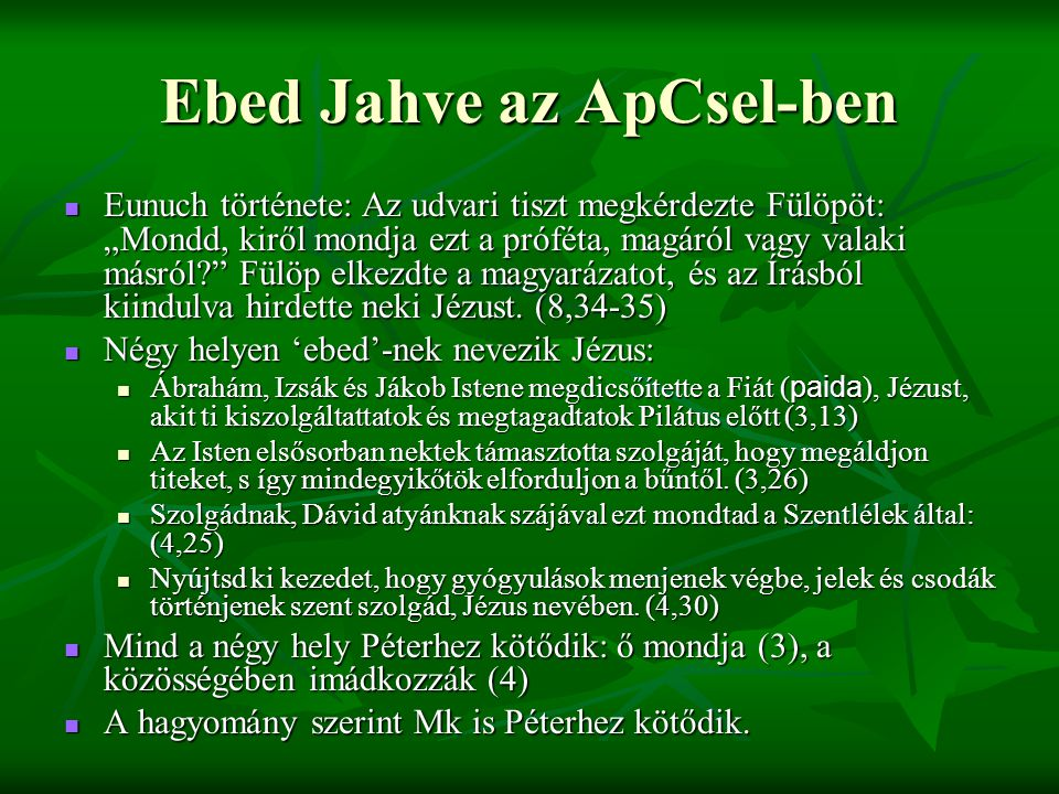 Ebed Jahve az ApCsel-ben