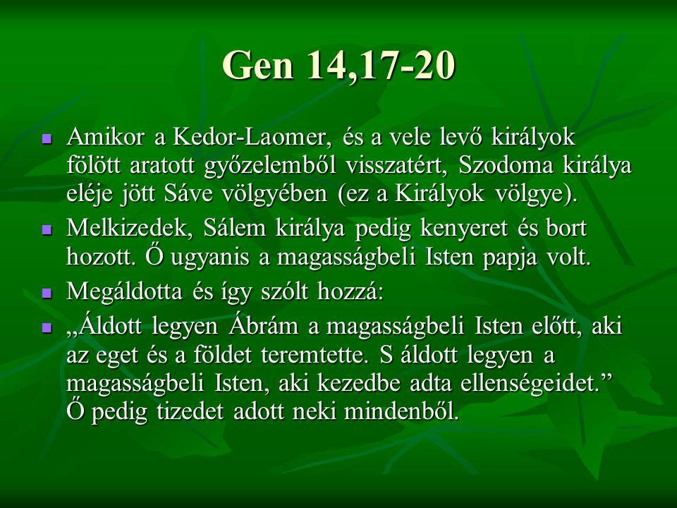 Gen 14,17-20