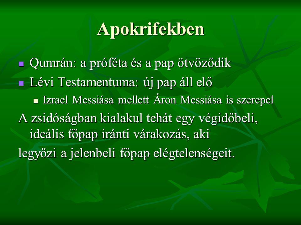 Apokrifekben Qumrán: a próféta és a pap ötvöződik