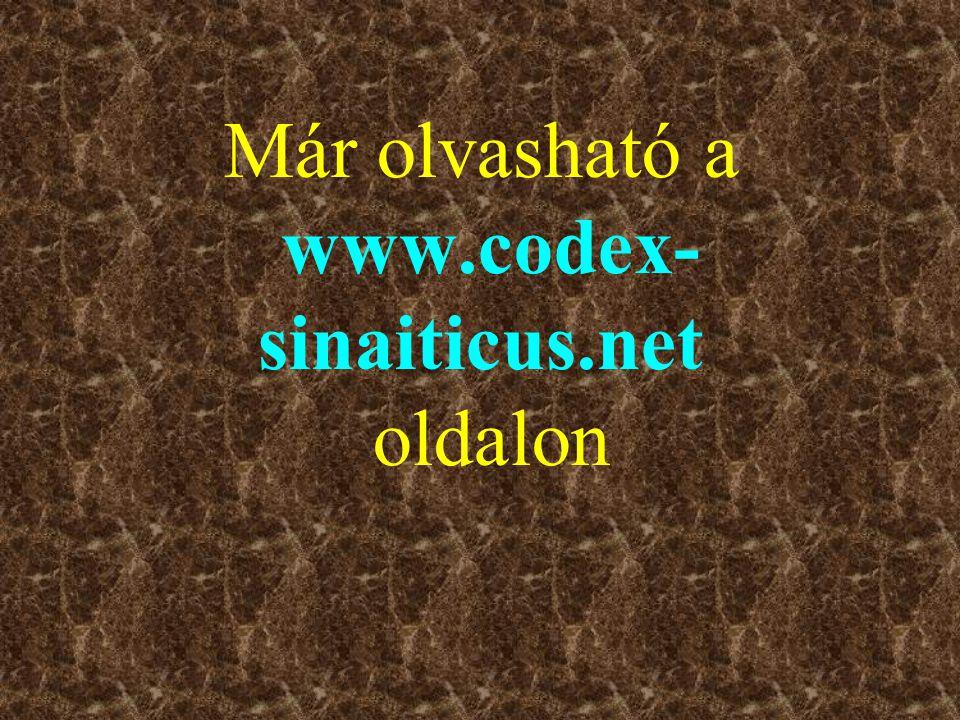 Már olvasható a www.codex-sinaiticus.net oldalon