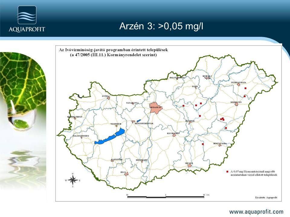 Arzén 3: >0,05 mg/l