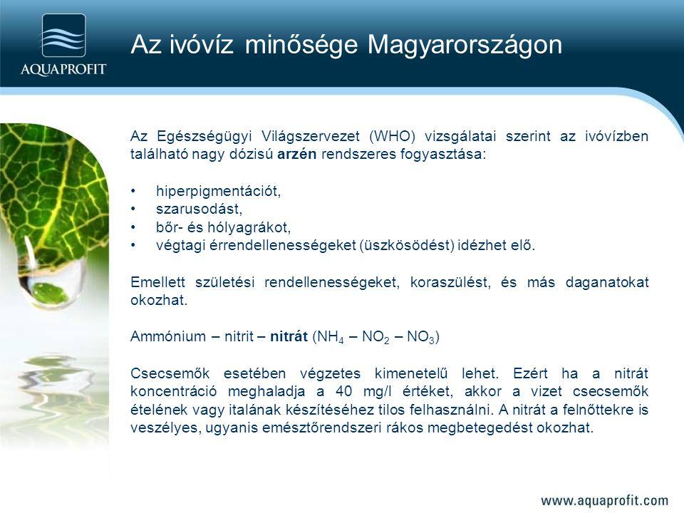 Az ivóvíz minősége Magyarországon