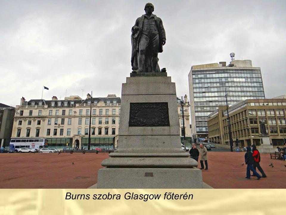Burns szobra Glasgow főterén