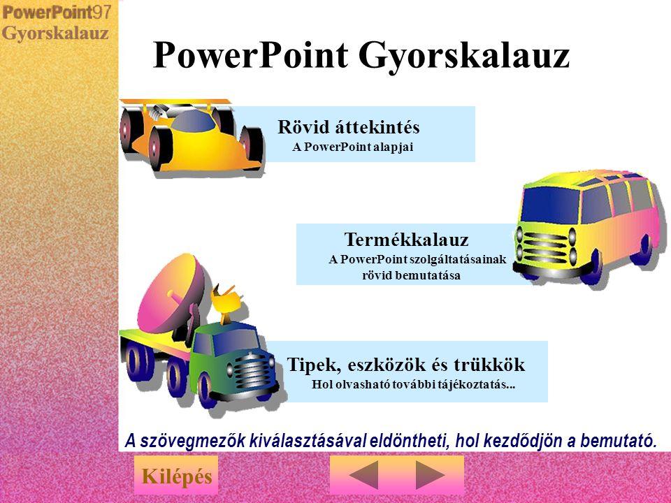 PowerPoint Gyorskalauz