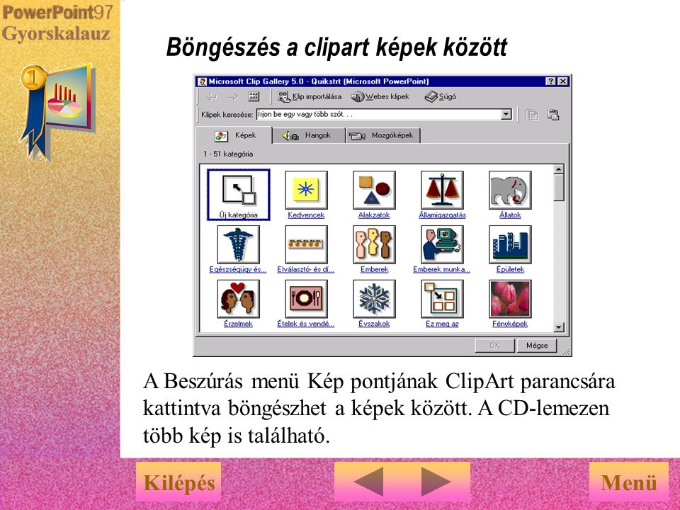 Böngészés a clipart képek között