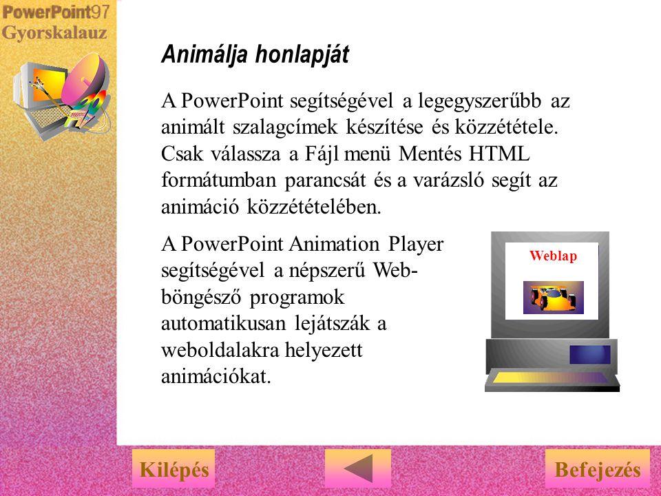 Animálja honlapját