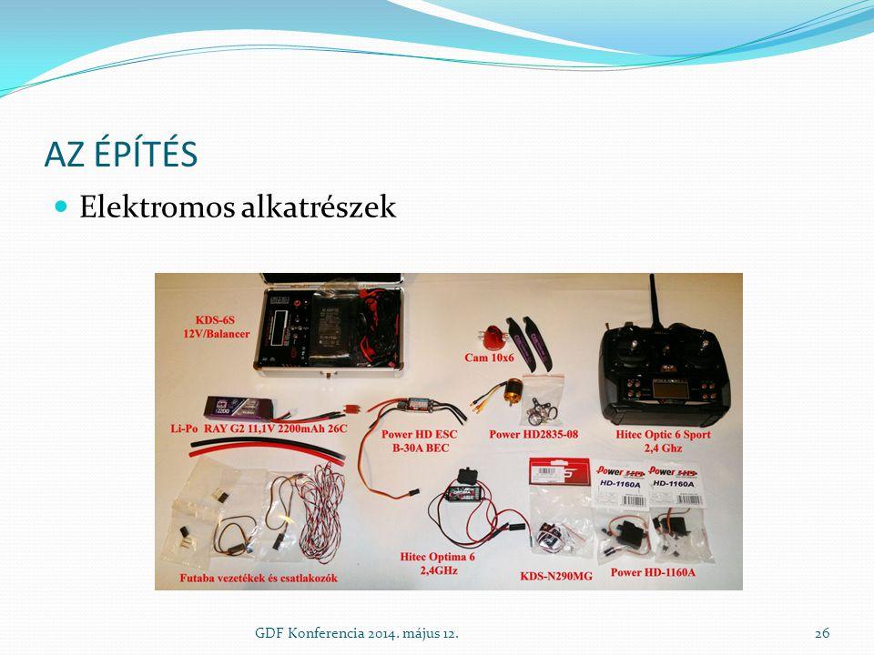 Az építés Elektromos alkatrészek GDF Konferencia 2014. május 12.