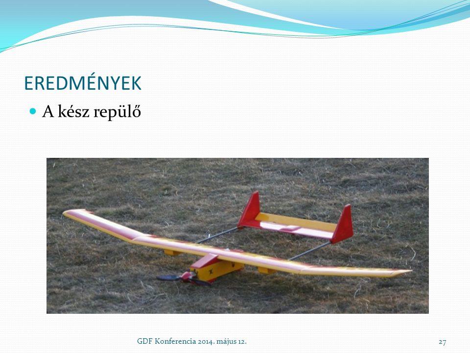 Eredmények A kész repülő GDF Konferencia 2014. május 12.