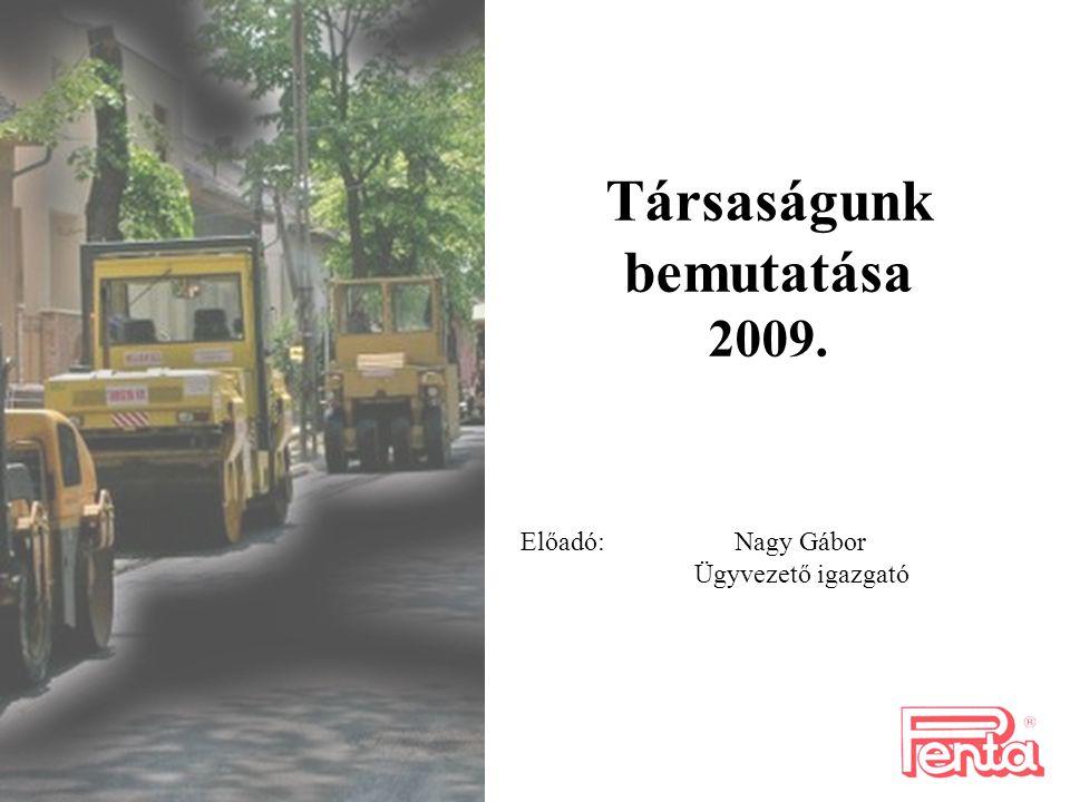 Társaságunk bemutatása 2009.