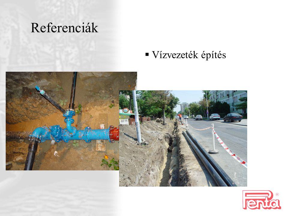 Referenciák Vízvezeték építés
