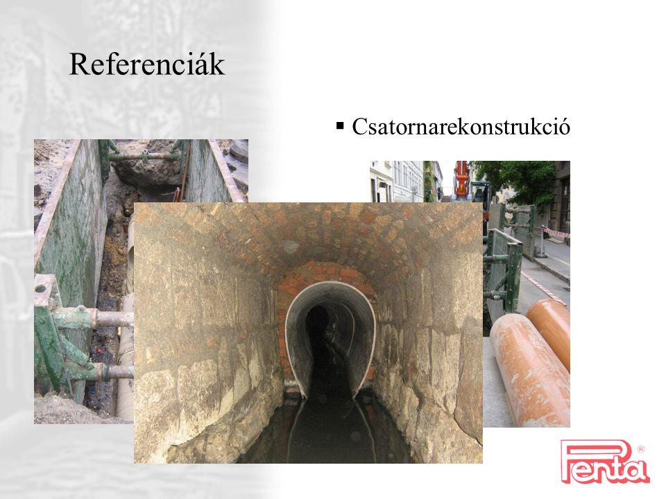 Referenciák Csatornarekonstrukció