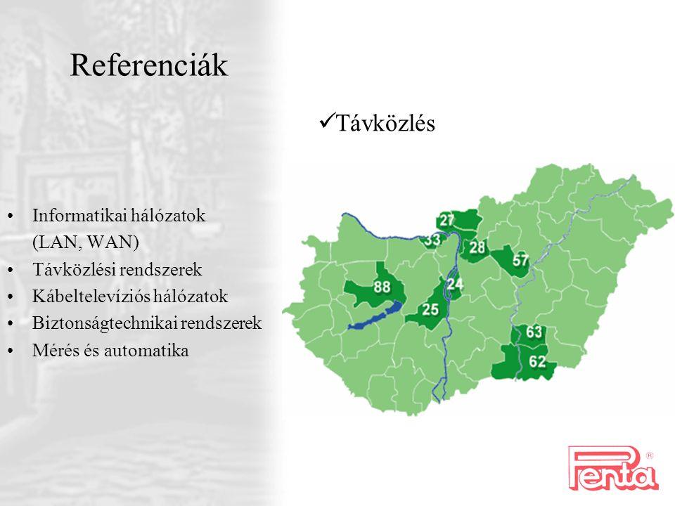 Referenciák Távközlés Informatikai hálózatok (LAN, WAN)