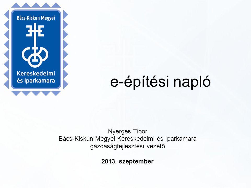 e-építési napló Nyerges Tibor