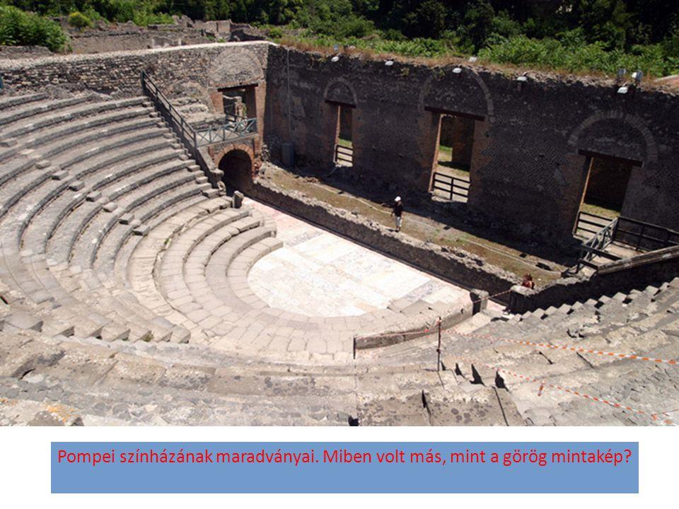 Pompei színházának maradványai. Miben volt más, mint a görög mintakép